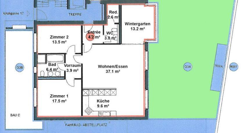 Pläne Kirchgasse-Whg