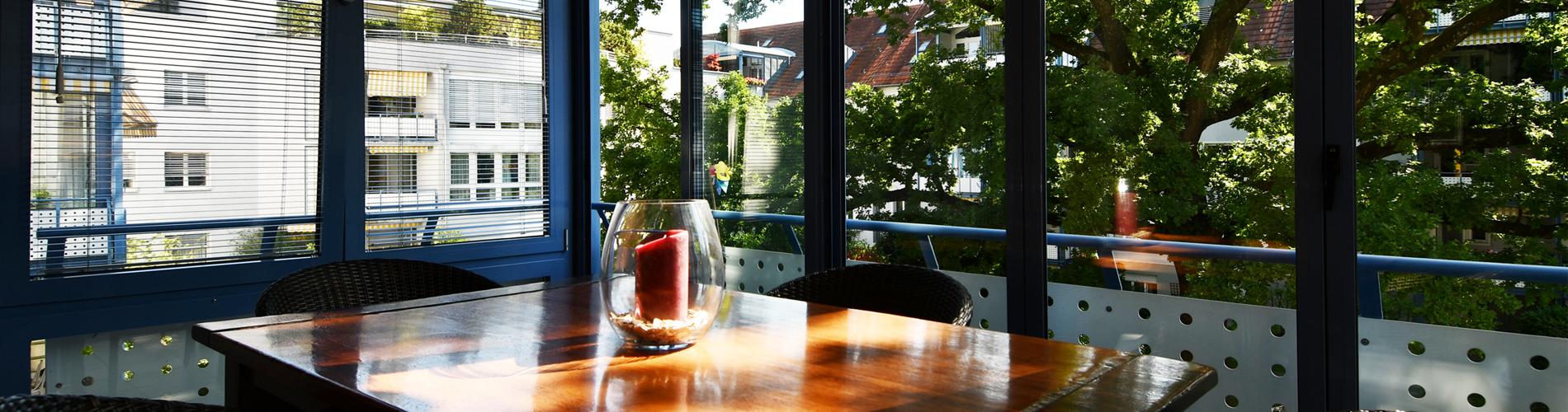 Hübsche 3-Zi'-Wohnung mit Wintergarten in Binningen