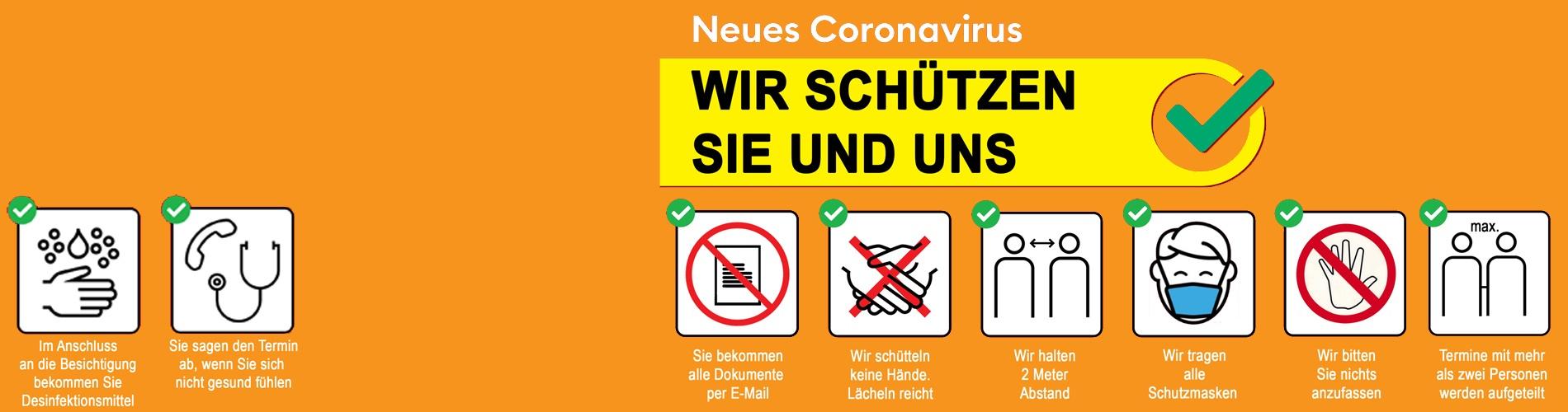 Immobilienverkauf während Corona … Wir schützen Sie.