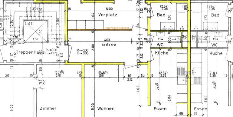 Grundriss Wohnung ab Originalplan