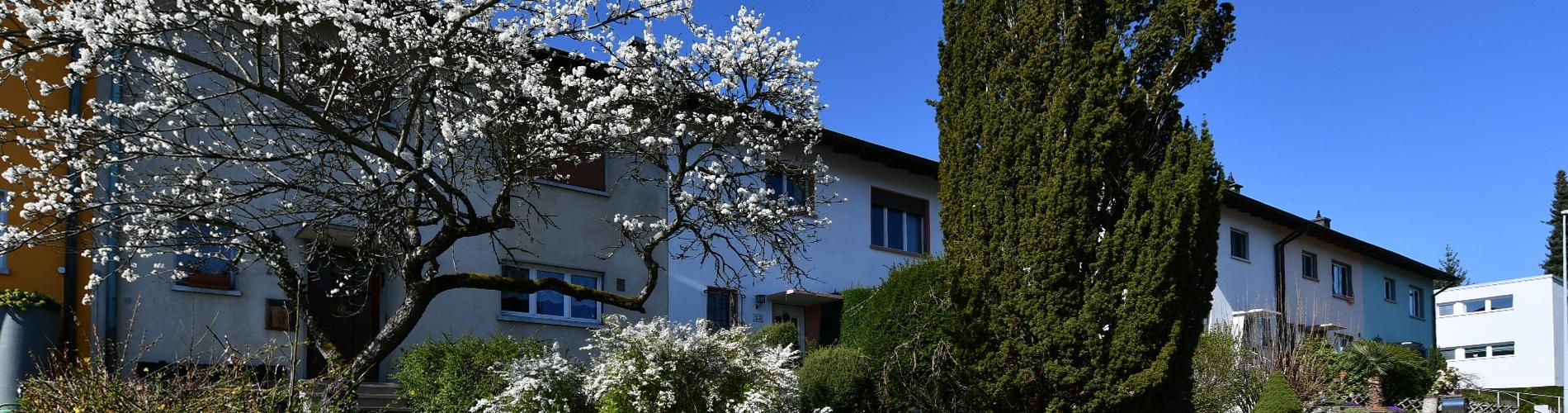 Reihen-Eckhaus mit Wintergarten in Binningen